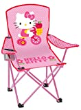 Hello Kitty Youth Folding Chair with Armrest and Cup Holder