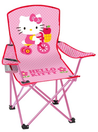Hello Kitty Youth Folding Chair with Armrest and Cup -