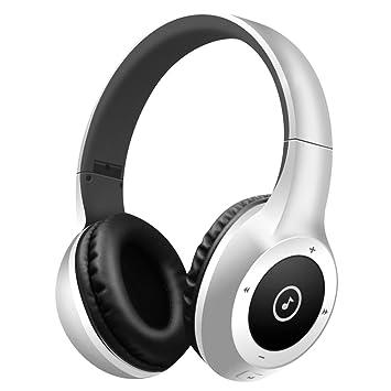 Auriculares Bluetooth, Bodecin Piel Amistosa Cuero 3D Sobre-Oído Estéreo Sonido Deporte Bluetooth 4.1 Inalámbricos Auriculares para iPhone/iPad/Android ...