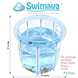 Swimava Compact Inflatable Tub for Baby POOL ONLY (48 Gallons)