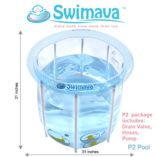 Swimava Compact Inflatable Tub for Baby POOL ONLY (48 Gallons) by Swimava