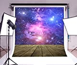 LFEEY Nebula Backdrop 6x9ft Aerospace Starry Sky Dreamy Photography Background Universe Galaxy Wooden Board Kid Children Toddler Artistic Portrait Digital Video Drop