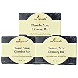 6 Pack BEST Blemish & Acne Cleansing Bar - Activated Charcoal Soap - Non-medicated - Soothe Congested Completions - Fast and High Potency Skin Care Treatment of Blemishes, Acne Scars, Face & Body Wash