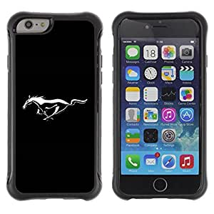 "Hypernova Defender Series TPU protection Cas Case Coque pour Apple iPhone 6+ Plus(5.5 inches) [Mustang Wild Horse""]"