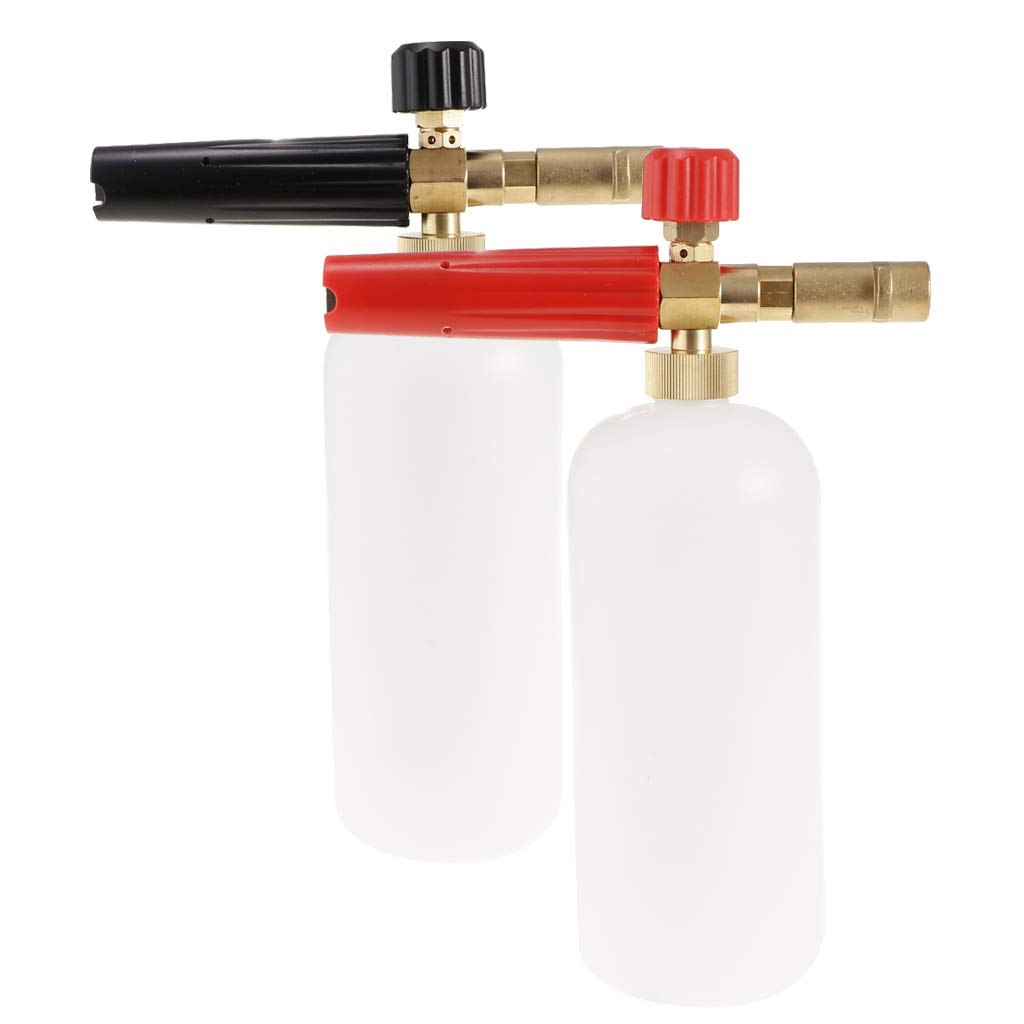 Rojo B Blesiya 2X Lavadora a Presi/ón Botella de Dispensador de Jab/ón Accesorios para Pistolas de Agua Negro