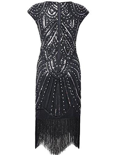 Di Nero Frange 1920 Paillettes Diamante Donne PrettyGuide Vestito Eleganti Impreziosito Sera Gatsby Lusso Da 5g17xPnP0