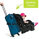 VolkGo Car Seat Travel Strap – Car Seat Travel Belt to Convert Car Seat and Carry-on Rolling Suitcase into an Airport Car Seat Stroller