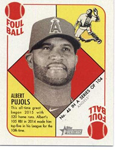 (2015 Topps Heritage '51 Collection Baseball #46 Albert Pujols Los Angeles Angels Official MLB Trading Card)