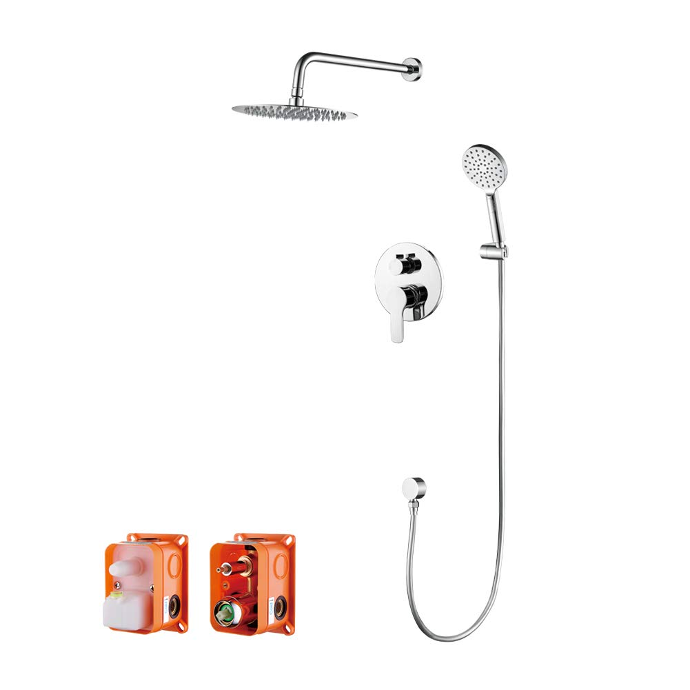 GRIFEMA Porto, Concealed Shower Tap System with Valve and trims, Shower Set, Chrome