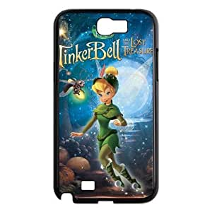 SamSung Galaxy Note2 7100 phone cases Black Tinker Bell cell phone cases Beautiful gifts NYU45756487