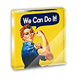 Rosie the Riveter We Can Do It Acrylic Office Mini Desk Plaque Ornament Paperweight