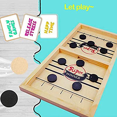 ZINUY-HH Fast Sling Puck Game Large Fast Sling Puck Game 1 Games 1 Table | Winner for Games Paced, Board Portable: Toys & Games