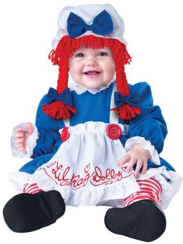 Raggedy Ann Costume - Lil Rag Dolly Costume (18 months-2T with Bracelet for Mom) (Toddler Raggedy Ann Costume)