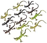 12 Assorted Plastic PVC Toy Lizards