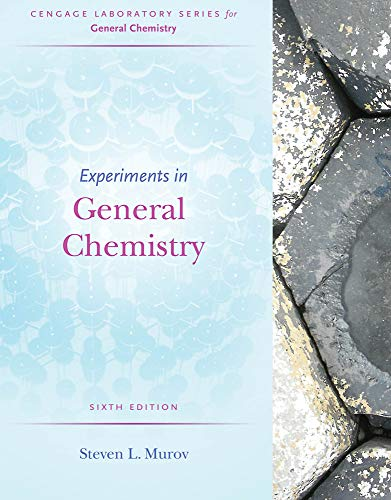 Experiments in General Chemistry (Cengage Laboratory Series for General Chemistry)