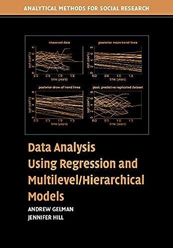 amazon com data analysis using regression and multilevel rh amazon com