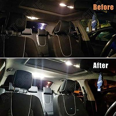 AUTOGINE Super Bright 6000K White LED Interior Light Bulbs Kit Package for 2003-2012 Honda Accord + Install Tool: Automotive