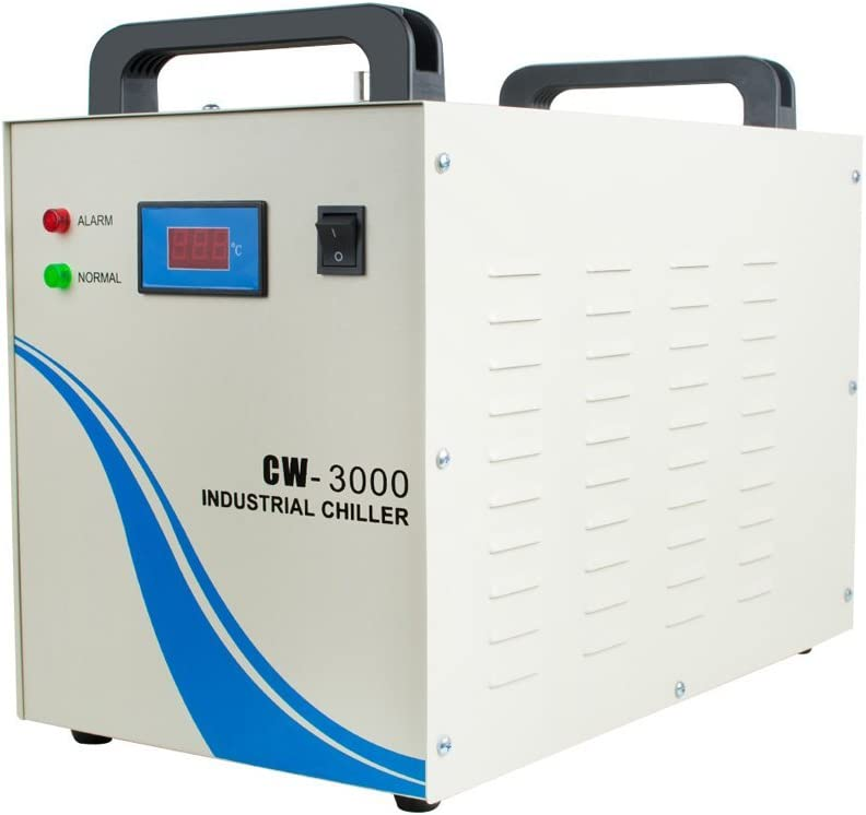 Zinnor Water Chiller Shipping from USA 9L Capacity Industrial Water Chiller CW-3000DG Thermolysis Type Industrial Water Cooling Chiller for 60//80W Laser Engraving Machine