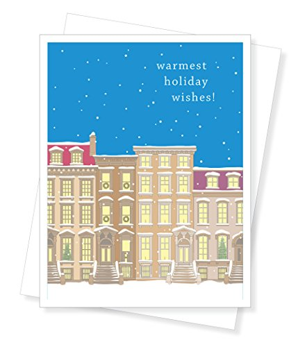 Apartment 2 Cards Townhouses Holiday Christmas Boxed, Set of 10 Greeting Cards