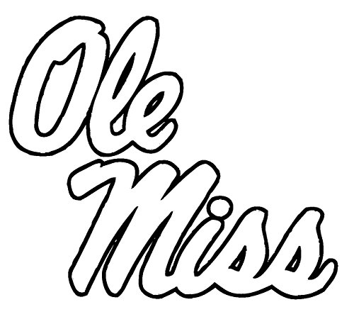 TDT Printing & Custom Decals Ole Miss Rebels Vinyl Decal Sticker for Car or Truck Windows, Laptops etc.