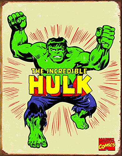 Desperate Enterprises The Incredible Hulk Retro Tin Sign, 12.5