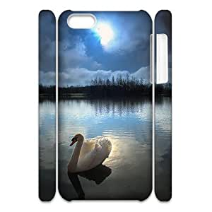Cell phone 3D Bumper Plastic Case Of Swan For iPhone 5C by icecream design