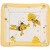 roba Wickelauflage 'Biene Maja', weiche Wickelunterlage 85x75cm, Wickeltischauflage PU beschichtet