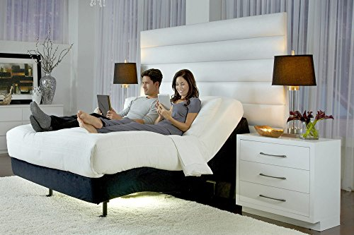 Prodigy 2.0 Twin XL + 12″ Luxury Cool Gel Memory Foam Mattress by Nature's Sleep Leggett & Platt Adjustable Bed Base (1 Twin XL Power Base & 1 Mattress) For Sale