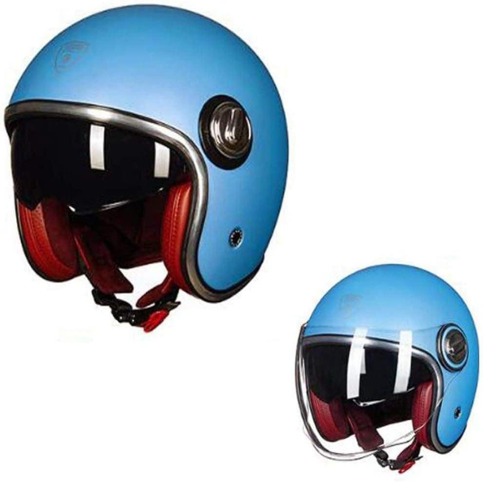 casco de moto retro de 3//4 de cara abierta para hombres y mujeres adultos con doble lente en l/ínea con certificaci/ón de punto//multicolor Opcional, ZHXH Casco de moto Harley