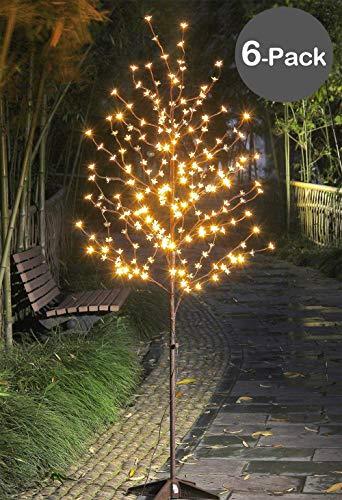 Lightshare LED Blossom Tree,6 of Pack,6-Feet, Warm White