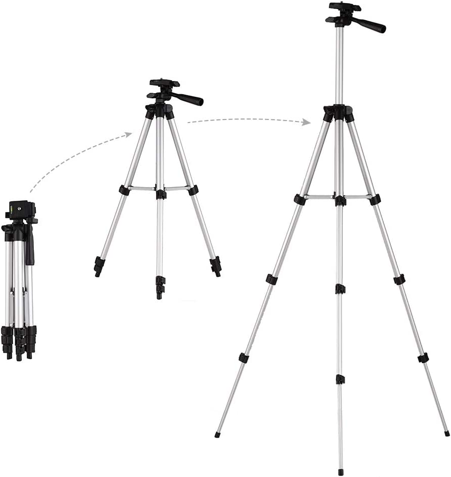 حامل ثلاثي القوائم للكاميرات Phomnd 3110 Pro خفيف الوزن ومرن ومتنقل ثلاثي الاتجاه متوافق مع Sony Canon Nikon