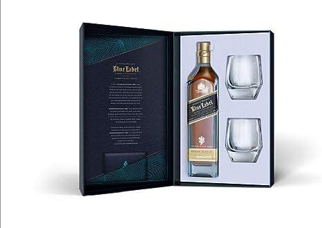 Johnnie Walker Blue Label Whisky Escocés - Estuche De Regalo Con Dos Vasos - 700 ml: Amazon.es: Alimentación y bebidas