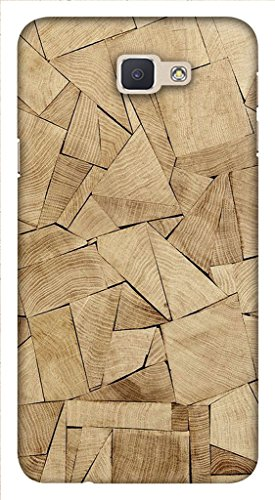 Blutec Wooden Texture Design Printed Polycarbonate Back Cover for Samsung Galaxy On Nxt  Brown