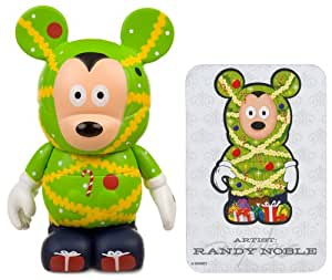"Christmas Tree Mickey by Randy Noble - Disney Vinylmation ~3"" Holiday Series #1 Designer Figure (Disney Theme Parks Exclusive)"