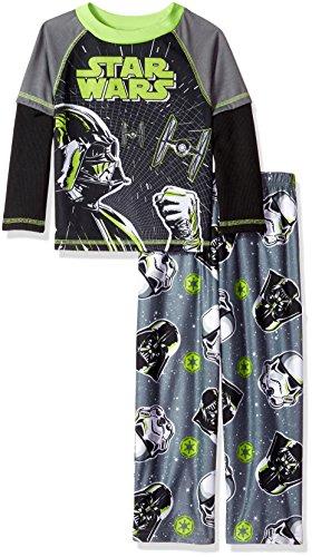 Disney Big Boys' 2-Piece Pajama Set, Gray, (Disney Pjs For Boys)