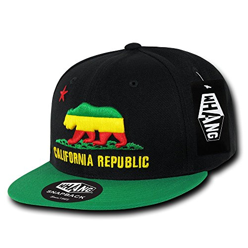 (WHANG California Republic Snapbacks,)