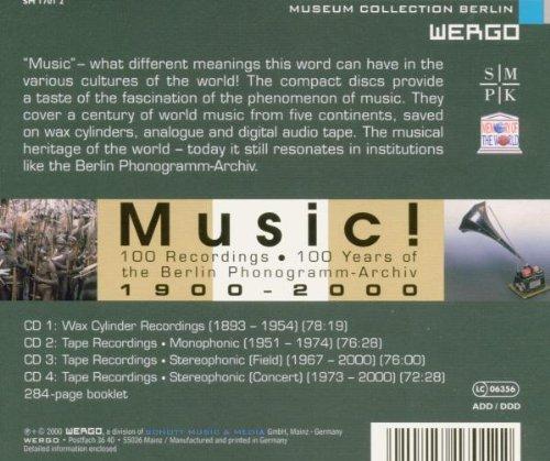 Music! The Berlin Phonogramm-Archiv, 1900-2000 by Wergo Germany