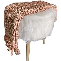 Avioni Sofa Throws/Blankets Super Soft Acrylic Handloom Weaved - (Aura Collection)-127x152 cm (50 x 60 Inch)