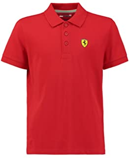 7ce3b490e 2018 Scuderia Ferrari F1 Team Childrens Polo Shirt Kids Boys Sizes ...