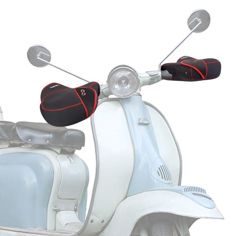 Schwarz Winter Motorrad Lenker Handschuhe Lenkerstulpen warm Motorradlenker Stulpen Winddichte Motorradstulpen Lenkerhandschuhe