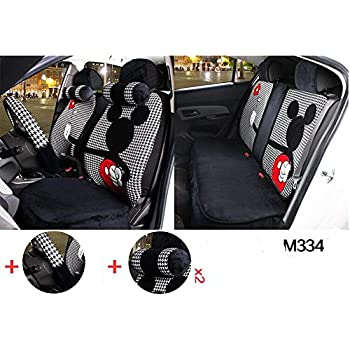 1 Sets The New Plush Cartoon Mickey Mouse Car Seat Cover Front And Rear Universal