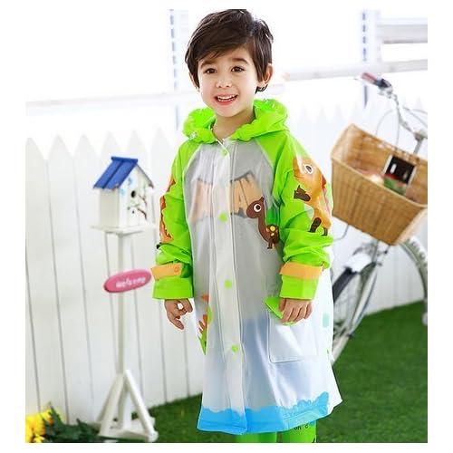 37ed058b6fb97 OHmais Enfant Fille Garçon Vêtement de pluie Manteau Imperméable Ponchos de  Pluie Raincoat Adorable avec Capuche