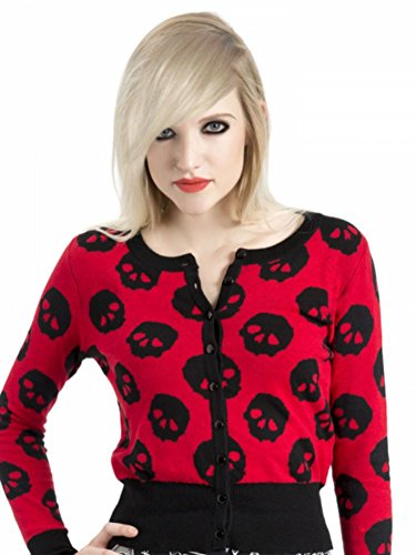 Jawbreaker-50s-Tattoo-Rockabilly-Retro-Vintage-Skulls-Cardigan-Sweater