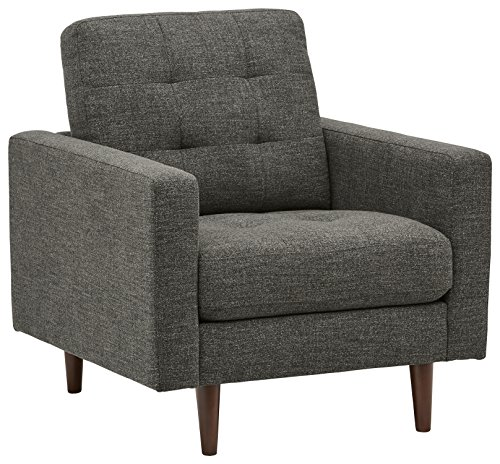 Rivet Cove Mid-Century Tufted Accent Chair, Dark Grey Review