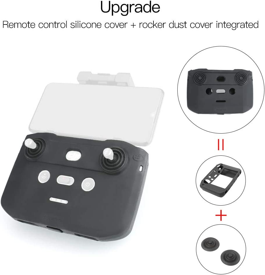 Dust Protection Cover Remote Control Silicone Covers for D-JI Mavic Air 2 Drone