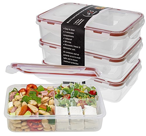 Bento Lunch Box 3pcs set - Meal Prep Containers Microwavable