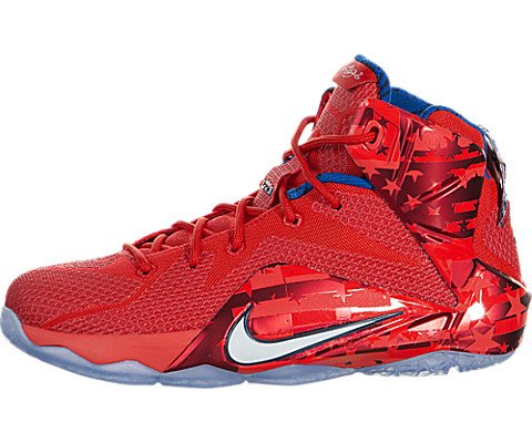 lebron red shoes. nike kids lebron xii (gs) lt crmsn/white/brght crmsn/mid basketball shoe 6 us red shoes