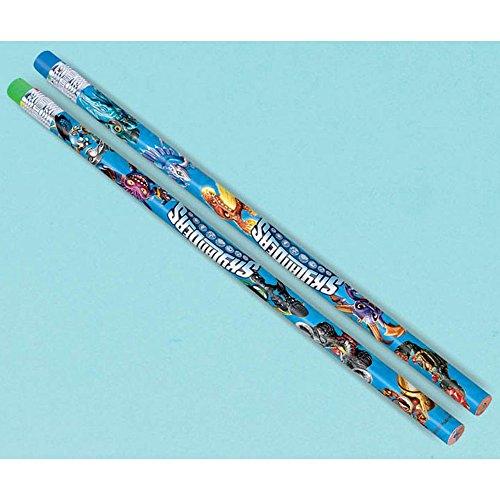Amscan Skylanders Pencils Birthday Party Favors (12 Pack), 7 3/8