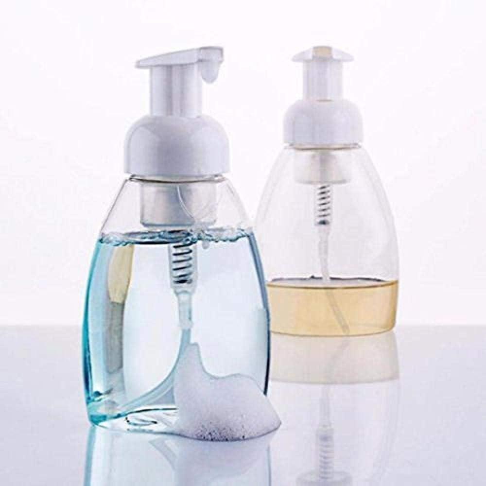 Botella de espuma de 250 ml Botella de plástico Botella de espuma de limpieza Botella de espuma Lavado facial Gel de baño Botella de plástico triangular