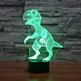 3D Lamp Dinosaur Baby Shape Boys best Bithday Gift Acrylic Table Night light Furniture Decorative colorful 7 color change household Desk Accessories (purple)